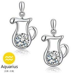 NEW sterling silver zodiac stud earrings